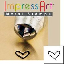 Metal stamp, punch, whimsy heart, 3mm, jewellery stamping