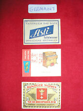 Matchbox Paper Labels - From Germany