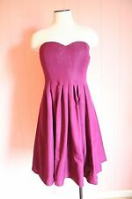 JCrew Marlie Dress Classic Faille 6 Crushed Berry Bridesmaid Cocktail NWT