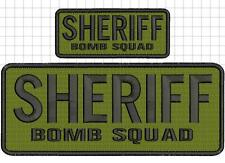 SHERIFF BOMB SQUAD embroidery patches  4x10 and 2x5 hook black letters