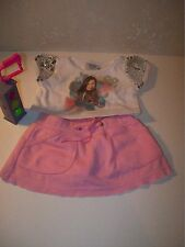 Build A Bear Clothing~i Carly White Shirt~Pink Skirt~Nickelodeon Stop Sign~D4