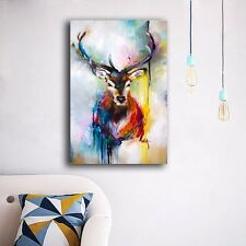 50×70×3cm Watercolor Deer Canvas Prints Wall Art Home Decor Framed Painting Gift