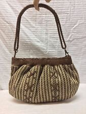 UGG Brown Wool Leather Purse Bag Shoulder Bag