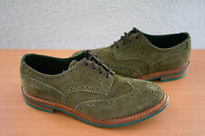 TRICKER'S for Franz Kraler Made in England Suede Green Derby Brogue 12 $325
