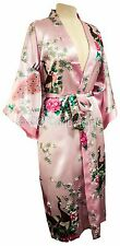 Kimono Peacock PREMIUM dressing gown Lingerie robe Light Pink