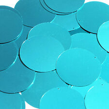 Teal Blue Green Sequin Round 1.5 inch Metallic Large Couture Paillettes