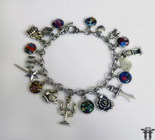 Beauty and the Beast  Story Book Inspired Altered Art Photo Charm Bracelet