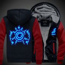 New Naruto Uzumaki Unisex Thicken Jacket Sweater Hoodies Anime Luminous Coat Cos