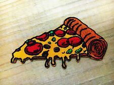 """NEW"" Pizza slice badge Iron On Patch patches embroidered iron on backpack biker"