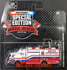 2015 Matchbox RWR Heroic Rescue® E-One Mobile Command Center RED/MBX F.D./MOC