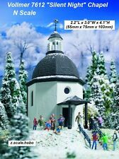 Vollmer N Scale 7612 Silent Night Chapel With Light Snow Music *NEW *USA DEALER*