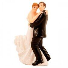 Pareja de baile clásico figura de boda Cake Topper 4 X 4 X 12.5cm Novia & Novio