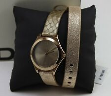 NEW AUTHENTIC DKNY PARSONS BROWN GOLD BRONZE  LADIES WOMEN'S NY2375 WATCH