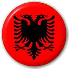 Small 25mm Lapel Pin Button Badge Novelty Albania - Albanian Flag