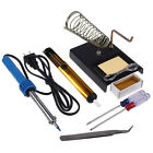 New Electric 30W 9in1 Solder Starter Tool Kit Set with Iron Stand Desolder Pump