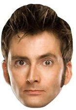 David Tennant  Doctor Dr Who Official Single Card Party Face Mask - Tenth Doctor