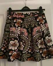 H&M pleated floral print skirt size 10 fully lined