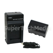 Battery + Charger For JVC BN-VF815 Everio GZ-MG330 GZ-MG335 GZ-MG340 GZ-MG360