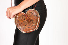Vintage Python snake skin messenger bag with tassel's