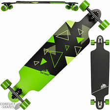 "D STREET ""Polygon Tri Drop Through"" Skateboard Longboard 39"" Road Rider Freeride"