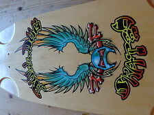 RARE EARLY BDS WINGED MASK SKATEBOARD DECK SIGNED BY WES (BULLDOG SKATES)