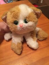"Kitty Kitty Kittens 1992 Tyco Plush 6"" Cat Sound Rattle Toy No Collar"