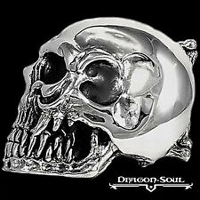 STERLING SILVER KING OF SKULLS BIKER BELT BUCKLE - DRAGON SOUL JEWELRY FREEFEDEX