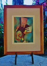 Original 1933 PICTURE BOOK Litho~Fiesta Head-dress~JEAN CHARLOT~ Ready-to-Frame