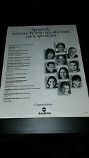 ABC Daytime Emmy Awards All My Children General Hospital Promo Poster Ad Framed!