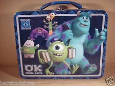 Monsters Inc University Metal Tin Lunch Box Oozma Kappa NEW Toys Carrier Tote