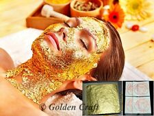 200 sheets 24k 100% pure gold leaf facial mask 4x4 cm Anti-aging spa and Edible