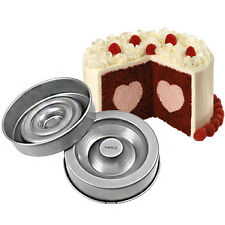 WILTON CUORE tasty-fill CAKE PAN SET-PENTOLE ANTIADERENTI CON BONUS recipe BOOK