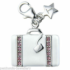 Tingle Ladies Luggage Case clip on Sterling Silver Charm with Gift Box SCH132