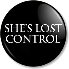 "SHE'S LOST CONTROL Joy Division 1"" Pin Button Badge Song by New Wave Band Black"