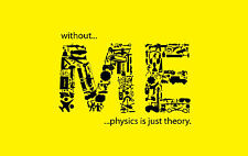 A4 Poster – Without ME Physics Is Just Theory (Picture Print Funny Yellow Art)