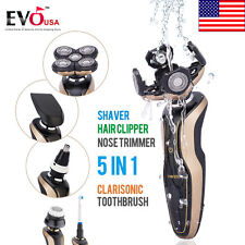 New Deluxe Rotary Men's 5D Washable Cordless Electric Shaver Razor Rechargeable