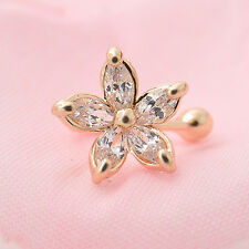 Fashion 1PC Crystal Flower Ear Cuff Earring Fashion Womens Wrap Clip On Jewelry