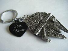 "STAR WARS ""May The Force Be With You"" Millennium Falcon Key Ring Bag Charm JEDI"