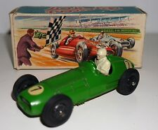 VINTAGE CRESCENT TOYS #1285 BRM MK 2 GRAND PRIX RACING CAR 1956 RARE BOXED GREEN
