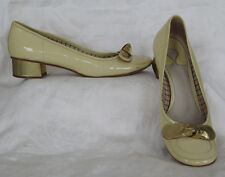 CHLOE Shoes Yellow Patent Leather Pumps With Gold Heel Made In Italy Sz 37