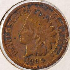 1909 Indian Head Penny, Ships for Free!!  IHCC90