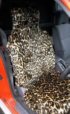 MITSUBISHI PAJERO/ L 200 CAR SEAT COVERS- GOLD LEOPARD FAUX FUR- FULL SET