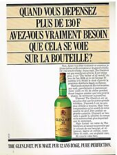 Publicité Advertising 1982 Scotch Whisky The Glenlivet