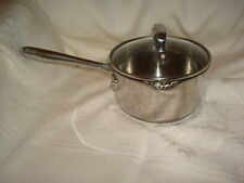 EMERIL by All-Clad Stainless Steel 1.5 Qt Saucepan Pan has Lips & Strainer Lid