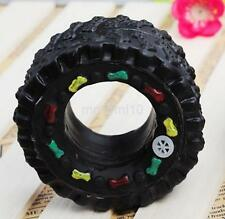 Animal Sound Tire Pet Dog Toy Puppy Cat Chews Squeaky Squeaker Rubber Toys UK