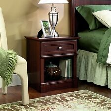 Sauder Palladia Night Lamp Stand Bedside Table Cherry Finish Bedroom Furniture