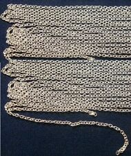 Chain 12' 2x2mm fine silver plated cable link jewelry making beading chain ch096