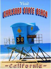 Carlsbad Beach San Diego California United States Travel Advertisement Poster