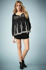 BNWT Kate Moss Topshop 2014 Black Suede Shorts AVAILABLE IN UK 8 10 12 RRP £75