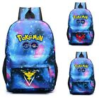 Pokemon GO Blue Backpack Shoulders Bag Laptop Bag School Bag